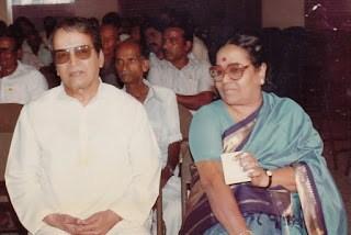 M N Nambiar and Mrs Rukmini Nambiar
