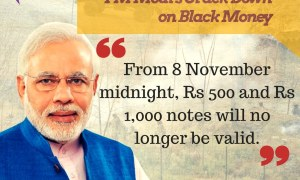 Rs 1000/- and Rs 500/- Indian Currency Notes Demonetized w.e.f. 09th November 2016