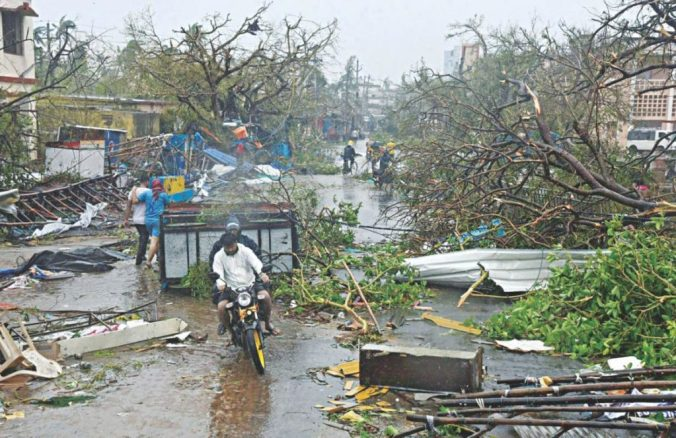 Cyclone Fani damages