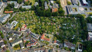Luftbild eines Kleingartenvereins. (Bild: imago/Hans Blossey)
