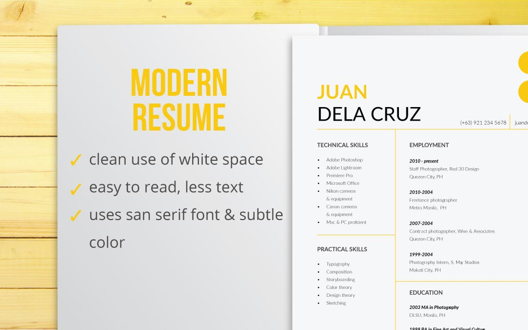 Resume Types by Design