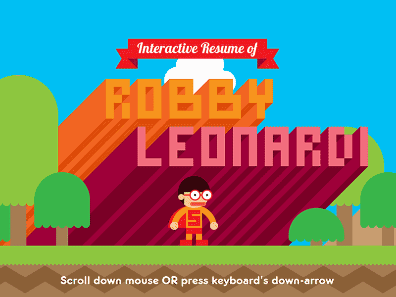 interactive resume of robby leonardi