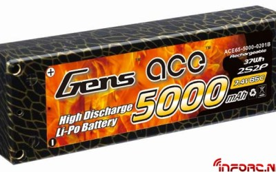 Packs de 5000 y 5800 mah de Gens Ace