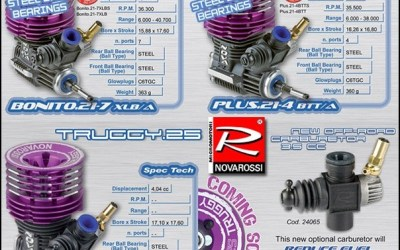 Nueva gama de motores Novarossi