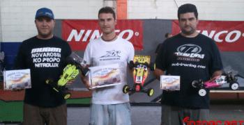 Podio de la carrera Soltuning en el circuito indoor de astro de Almeria