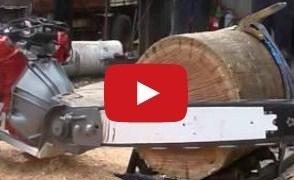Video de los Viernes: Motosierra con motor V8, impresionante