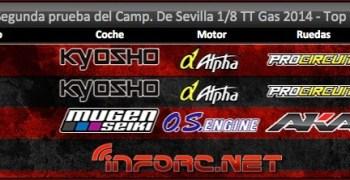 Resultado de la Segunda prueba del Provincial de Sevilla 1/8 TT Gas 2014