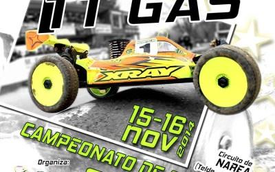 15 y 16 de Noviembre. Campeonato de Canarias 1/8 TT GAS - Invitación.