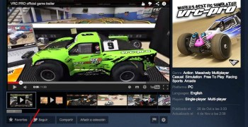 VRC Pro en Steam, plataforma de juegos para PC