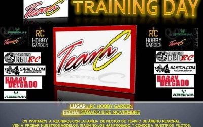 Este Sábado, Team C Training Day en Hobby Garden