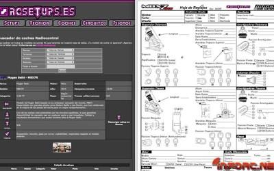 Ya disponible en RCSetups.es la hoja de reglajes para Mugen MBX7R