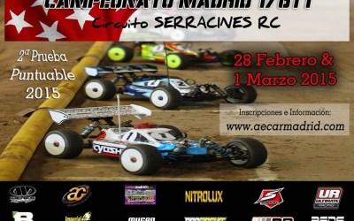 Inscripciones abiertas: Segunda prueba Regional de Madrid 1/8 TT Gas