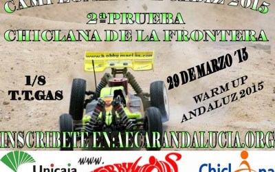 Este finde: Segunda prueba del Cto. de Cádiz 1/8 TT Gas 2015
