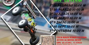 Calendario 2º Open Merlin La Rioja 1/8 TT Gas 2016