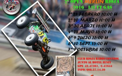 Calendario 2º Open Merlin La Rioja 1/8 TT Gas 2016