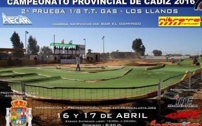 16 y 17 de Abril - Campeonato Provincial de Cádiz 1/8 TT Gas 2016