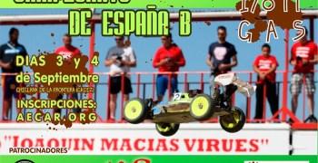3 y 4 de Septiembre - Campeonato de España B 1/8 TT Gas en el circuito Joaquín Macías, Cádiz