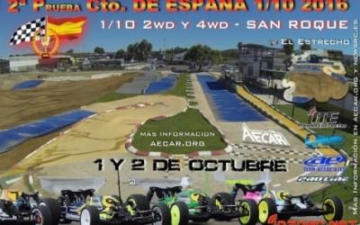 1 y 2 de Octubre - Campeonato de España 1/10 2WD en San Roque