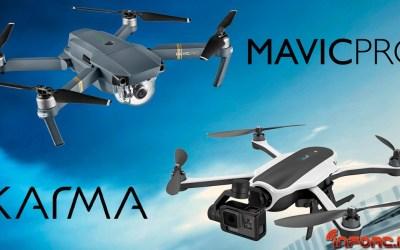 DJI Mavic Pro Vs GoPro Karma ¿batalla de drones plegables o paliza de DJI a GoPro?