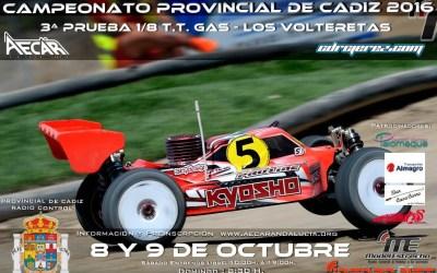 8 y 9 de Octubre - Tercera prueba provincial de Cádiz 1/8 TT Gas