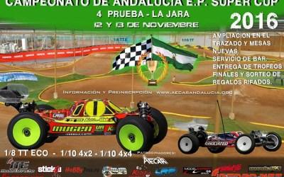 12 y 13 de Noviembre - Ultima Prueba Campeonato de Andalucia Electric Power Super Cup 2016