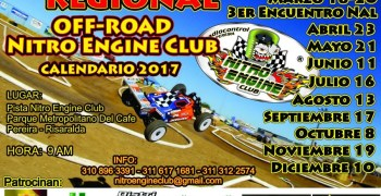 Colombia - Calendario de carreras del Nitro Engine Club para 2017