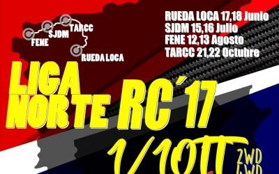 Calendario liga Norte 2017 1/10 TT