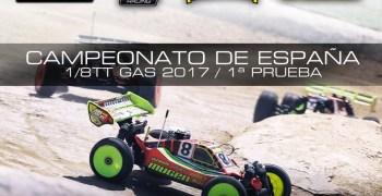 25 y 26 de Marzo - Primera prueba Campeonato de España A 1/8 TT Gas 2017.