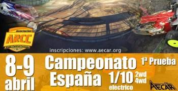 8 y 9 de Abril - Campeonato de España 1/10 2WD y 4WD en Coslada, Madrid