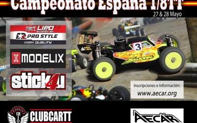 27 y 28 de Mayo - Segunda prueba Campeonato de España 1/ 8TT Gas 2017. Fuencarral.