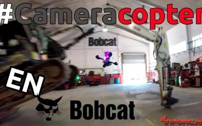 Video - Drones de carreras en un taller de excavadoras