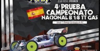 7 y 8 de Octubre - Campeonato de España B 1/8 TT Gas en el Club Pical RC