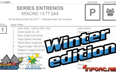 KRacing Winter Edition en La Nucia - Horarios, mangas y planning de reportaje en infoRC