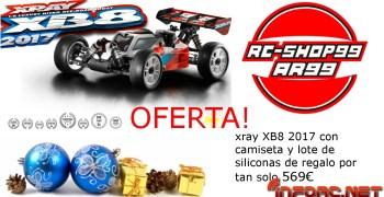 Oferta RC-Shop99 - XRay XB8 2017 con camiseta oficial XRay y lote de siliconas