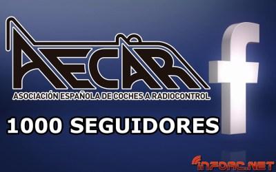 Aecar alcanza los 1000 seguidores en Facebook y se apunta al Sorteo de Navidad de infoRC.net