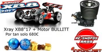 XRay XB8 2017 + Motor Bullit B222 por 680€ en RC Shop99