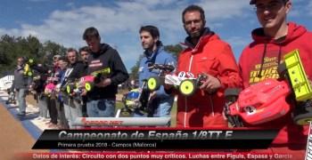 Video - Finales A del Nacional 1/8 TT-E en Mallorca, comentadas con Juan Carlos Canas