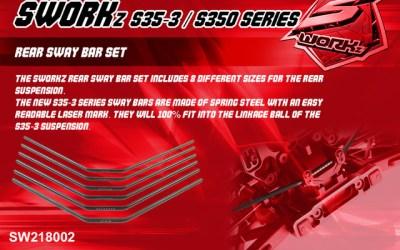 Nuevas barras estabilizadoras de SWorkz para las series S35/350