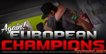 David Ronnefalk, piloto XTR Racing, se alza Campeón de Europa 1/10 2WD y 4WD