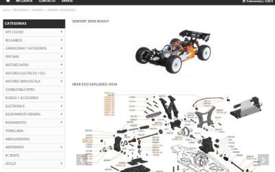 Bumpers Online actualiza su web con vistas en despiece y enlaces a cada referencia