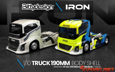 Video - Bittydesign presenta Iron, las carrocerías 1/10 para camión