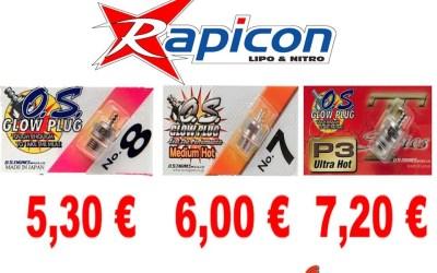 Gama de bujias OS ya disponibles en Rapicon España