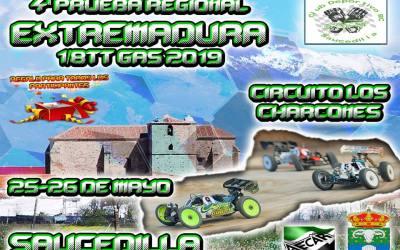 25 y 26 de Mayo - Cuarta prueba Campeonato de Extremadura 1/8 TT Gas 2019