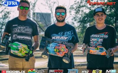Baruffolo, Ronnefalk y Ongaro, top 3 reseeding en Euro 1/8 TT-E Montjuic