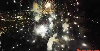 """Vídeo: Así son los fuegos artificiales filmados """"desde dentro"""" por un drone"""