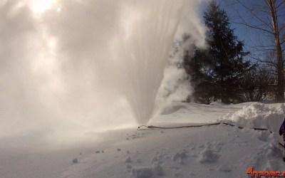 Video de los Viernes: Encendiendo un aspersor a -34º C