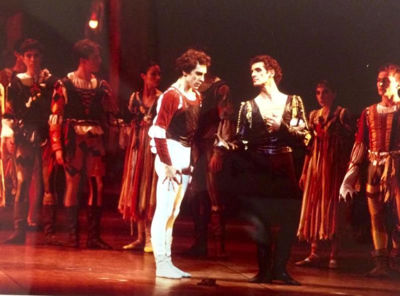 Con Marco Pierin in Romeo e Giulietta alla Scala nel 1991