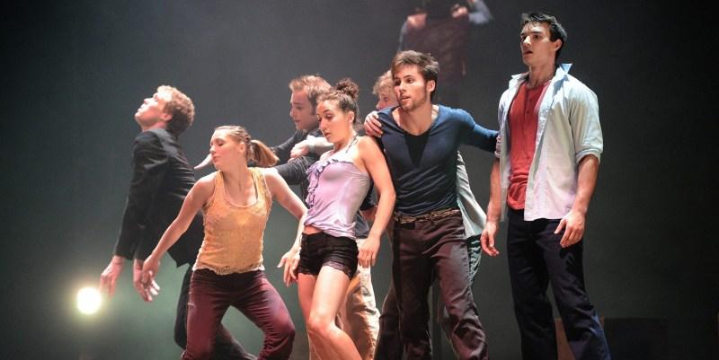 ©PHOTOPQR/LE PROGRES/PHILIPPON JOEL -  LYON LE 20 06 2012 LA COMPAGNIE CANADIENNE LES 7 DOIGTS DE LA MAIN PRESENTE EN AVANT PREMIERE MONDIALE SON NOUVEAU SPECTACLE SEQUENCE 8 AUX NUITS DE FOURVIERE A LYON LYON 06 21 2012 World premiere of The Montreal troupe Les 7 doigts de la main show   (MaxPPP TagID: maxpeopleworld572155.jpg) [Photo via MaxPPP]