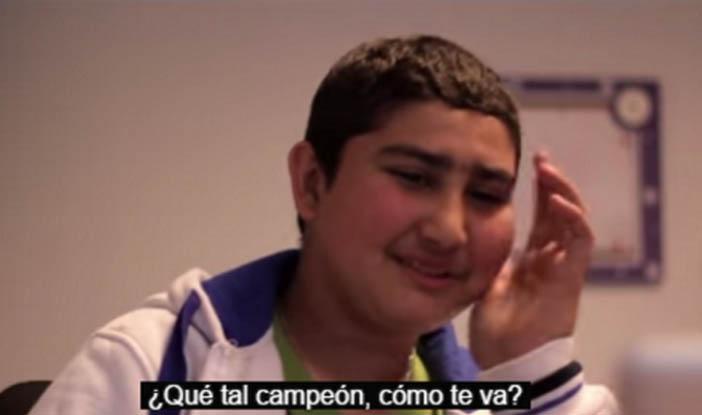 Luis Suárez y un niño uruguayo afectado de cancer