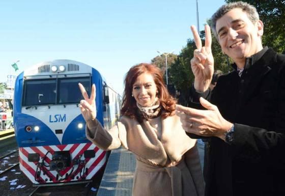 CFK y Randazzo eufóricos